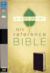 NIV Reference Bible, Giant Print, Burgundy, Thumb-Indexed  , Bonded Leather