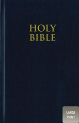 NIV Pew Bible, Large Print, Navy