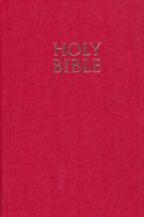 NIV Pew Bible, Large Print, Red