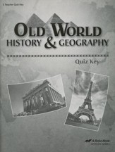 Abeka Old World History & Geography  Quizzes Key