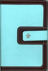 NIV Compact Thinline Bible, Turquoise/Chocolate Duo-Tone, Limited Edition