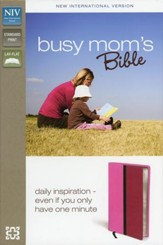 NIV Busy Mom's Bible, Pink/Hot Pink Duo-Tone - Slightly Imperfect