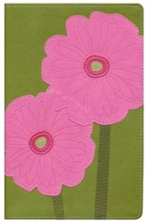 NIV Thinline Bible, Bloom Collection--Gerbera Daisy Duo-Tone