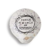 Family is A Circle of Strength Ceramic Spoon Rest