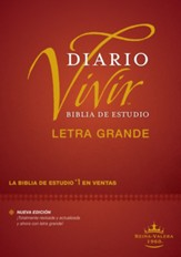 RVR60 Biblia de estudio del diario vivir, letra grande, RVR60 Large-Print Life Application Study Bible--hardcover, indexed - Slightly Imperfect