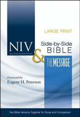 NIV and The Message Side-by-Side Bible, Two Bible Versions Together for Study and Comparison, Large Print - Imperfectly Imprinted Bibles