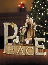Peace Nativity Figurine