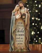 Holy Family, For Unto Us a Child is Born, Figurine