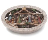 Stone Creche with Holy Family