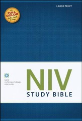 NIV Study Bible, Large Print, Hardcover - Imperfectly Imprinted Bibles