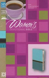 NIV Women's Devotional Bible--soft leather-look, turquoise/Caribbean blue