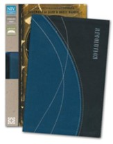 NIV Revolution: The Bible for Teen Guys: Updated Edition, Italian Duo-Tone, Blue and Black - Slightly Imperfect