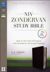 NIV Zondervan Study Bible--bonded leather, black - Imperfectly Imprinted Bibles