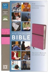 NIV Thinline Bible, Pink/Brown Duo-Tone - Imperfectly Imprinted Bibles