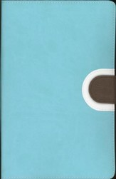 NIV Thinline Bible, Duo-Tone, Turquoise/Chocolate  - Slightly Imperfect