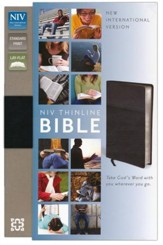 NIV Thinline Bible, Duo-Tone, Black  - Slightly Imperfect