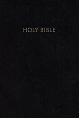 NIV Reference Bible, Giant Print, Black - Imperfectly Imprinted Bibles