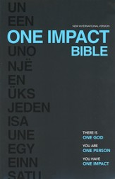 NIV One Impact Bible: One God. One Person. One Impact.