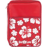 God Is Love Bible Cover, Red, Medium