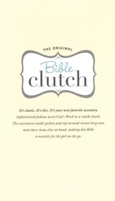 KJV Bible Clutch, Italian Duo-Tone, Silver Ice