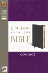 KJV, Thinline Bible Compact, Bonded Leather, Black