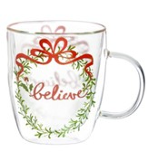 Festive Foliage Glass Cup