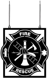 Fire Rescue, Metal Flag