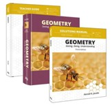Geometry Curriculum Pack (Student, Teacher, Solutions) Textbook Bindings (3 Book Pack)