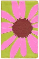 KJV Thinline Bloom Collection Bible, Pink Daisy - Slightly Imperfect