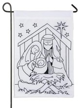 Nativity Scene, Color Me Flag, Small
