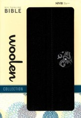 NIV Thinline Woolen Collection Bible, Hardcover, Woolen Black - Slightly Imperfect