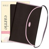 NIV Thinline Carrie Collection Bible, Imitation Leather, Chocolate Pink