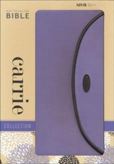 NIV Thinline Carrie Collection Bible, Imitation Leather, Lavender Chocolate