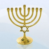 Celebration Star of David Hanukkah Menorah