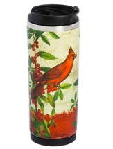 Cardinal Ceramic Stainless Steel Travel Mug