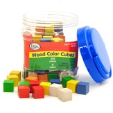 Color Cubes, Wooden (100 Pieces)