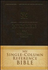 NIV Single-Column Reference Bible - Slightly Imperfect