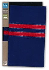 NIV College Devotional Bible, Italian Duo-Tone, Navy/Red