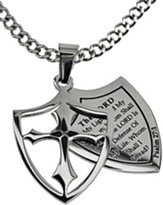 Fear Shield Cross Necklace