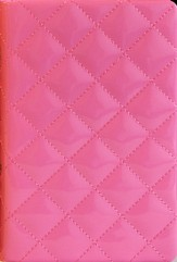 NIV Thinline Quilted Collection Bible, Compact, Italian Duo-Tone, Strawberry Cream