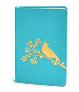 NIV Flora-Fauna Collection, Turquoise with Gold Foil Bird Design