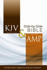 KJV and Amplified Side-by-Side Bible - Slightly Imperfect