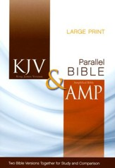 KJV and Amplified Side-by-Side Bible, Large Print - Slightly Imperfect