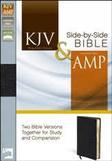 KJV and Amplified Side-by-Side Bible, Bonded Leather, Black - Imperfectly Imprinted Bibles