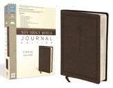 NIV Holy Bible, Journal Edition, Single Column--soft leather-look, brown