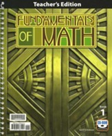 BJU Fundamentals of Math Grade 7  Teacher's Edition with CD-ROM Second Edition