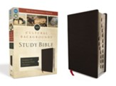 NIV Cultural Backgrounds Study Bible, Bonded Leather, Black Indexed