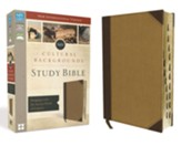 NIV Cultural Backgrounds Study Bible, Imitation Leather, Brown/Tan Indexed