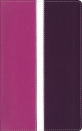 Amplified Holy Bible--soft leather-look, dark orchid/deep plum (indexed)