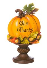 Give Thanks Pumpkin Tabletop Figurine